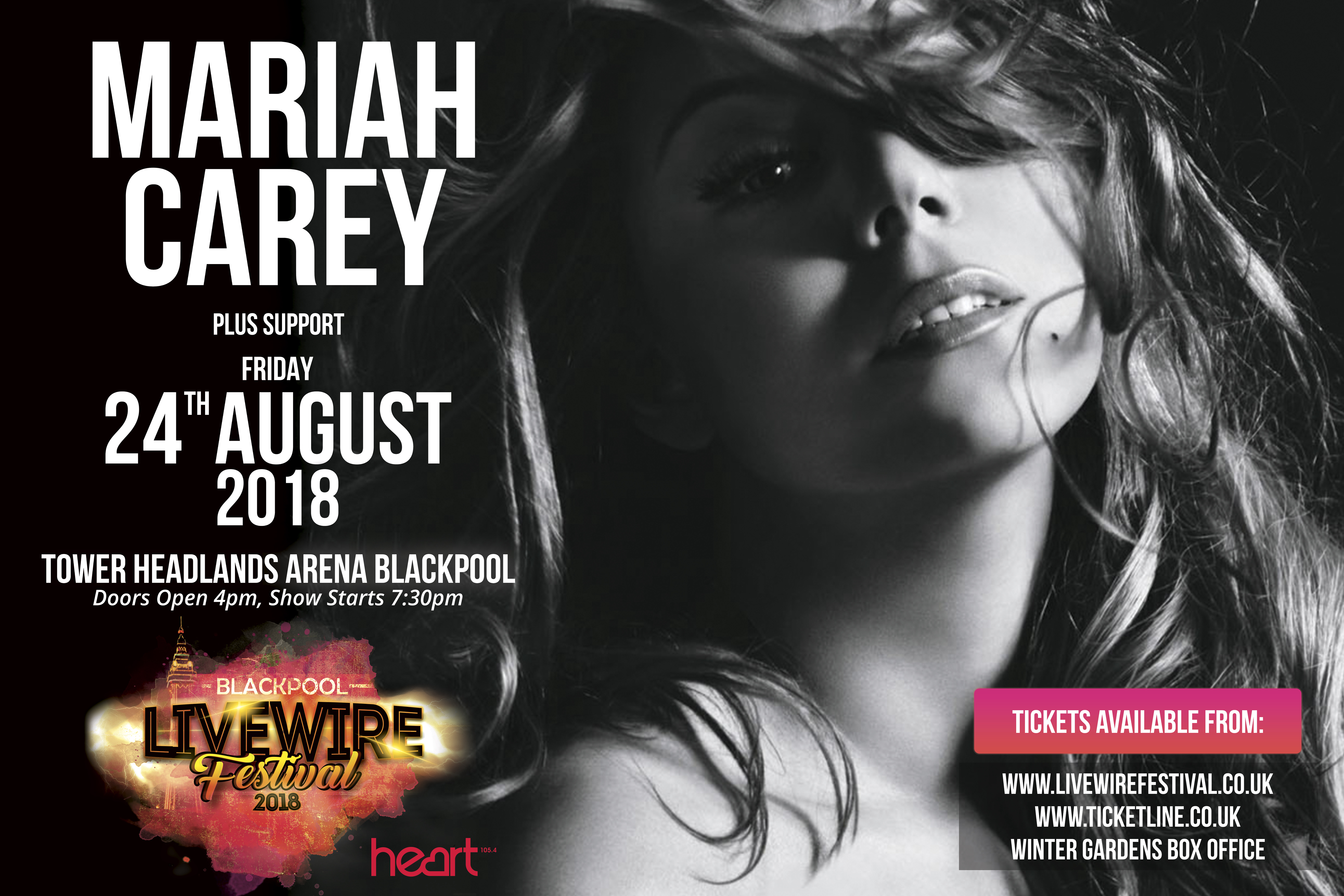 Mariah Carey Livewire Festival banner