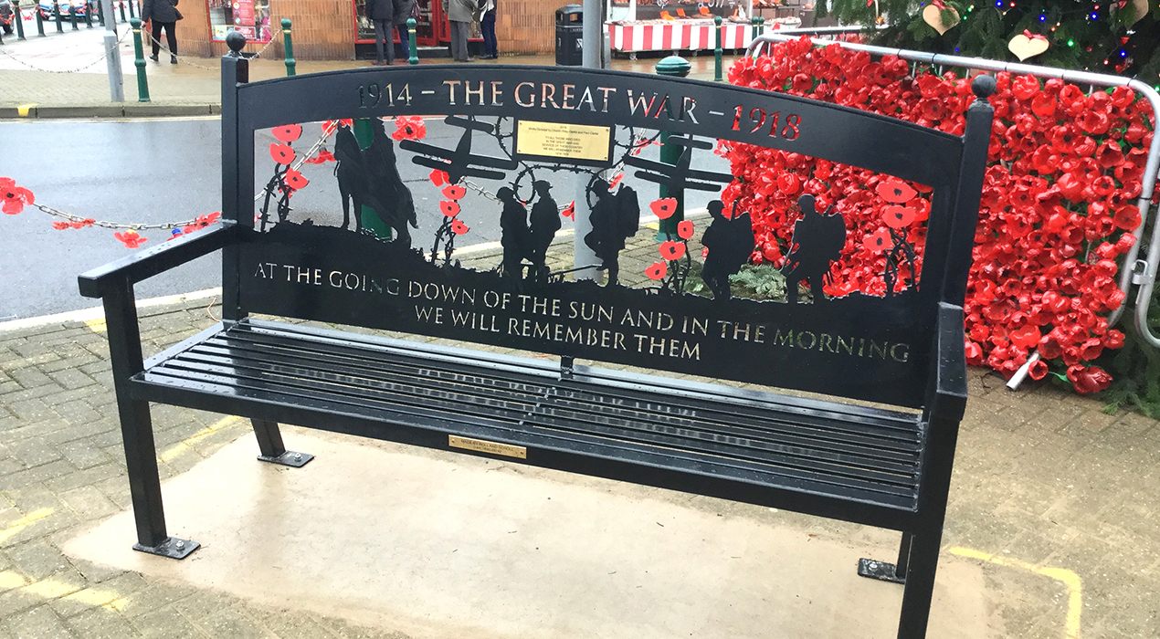Memorial Bench in Cleveleys