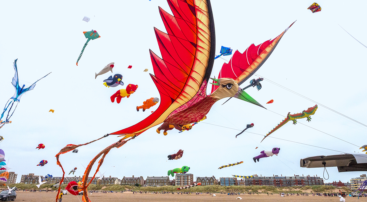Spectators and visitors enjoying the St Annes International Kite Festival, September 2nd 2018. Photo: Sue Burton Photography
